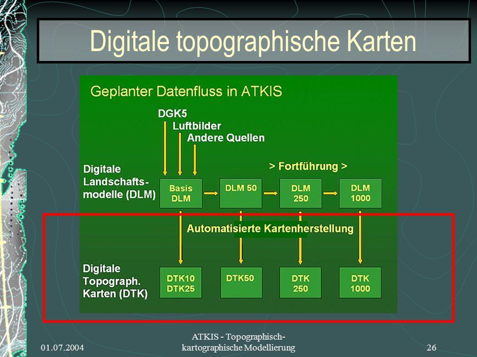 Digitale topographische Karten