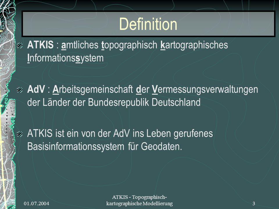 ATKIS - Topographisch-kartographische Modellierung