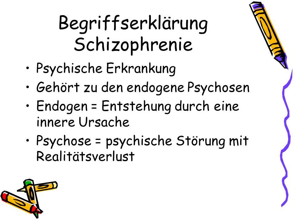 Begriffserklärung Schizophrenie