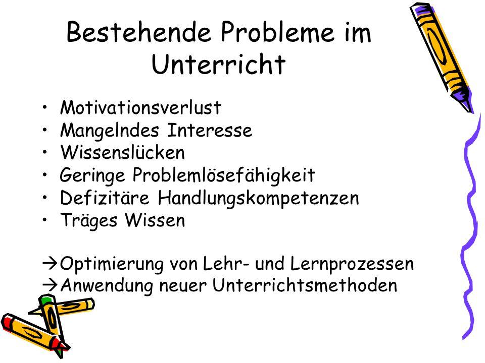 Bestehende Probleme im Unterricht