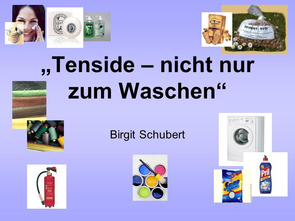 """""""Tenside – nicht nur zum Waschen Birgit Schubert"""