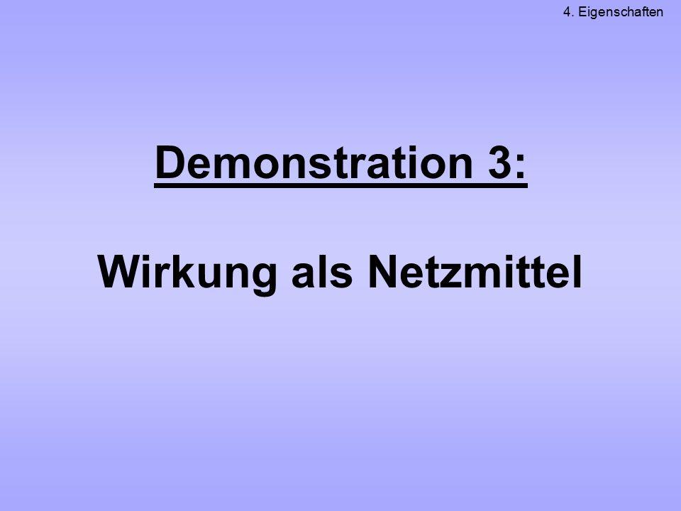 Demonstration 3: Wirkung als Netzmittel