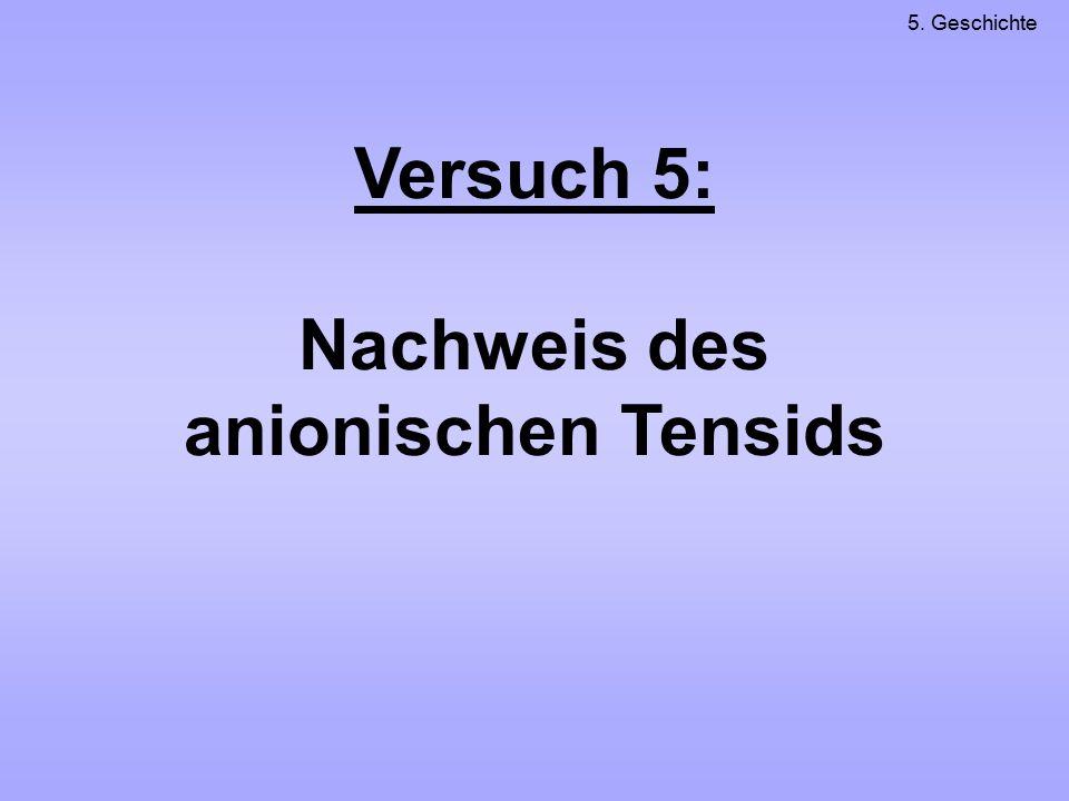 Nachweis des anionischen Tensids