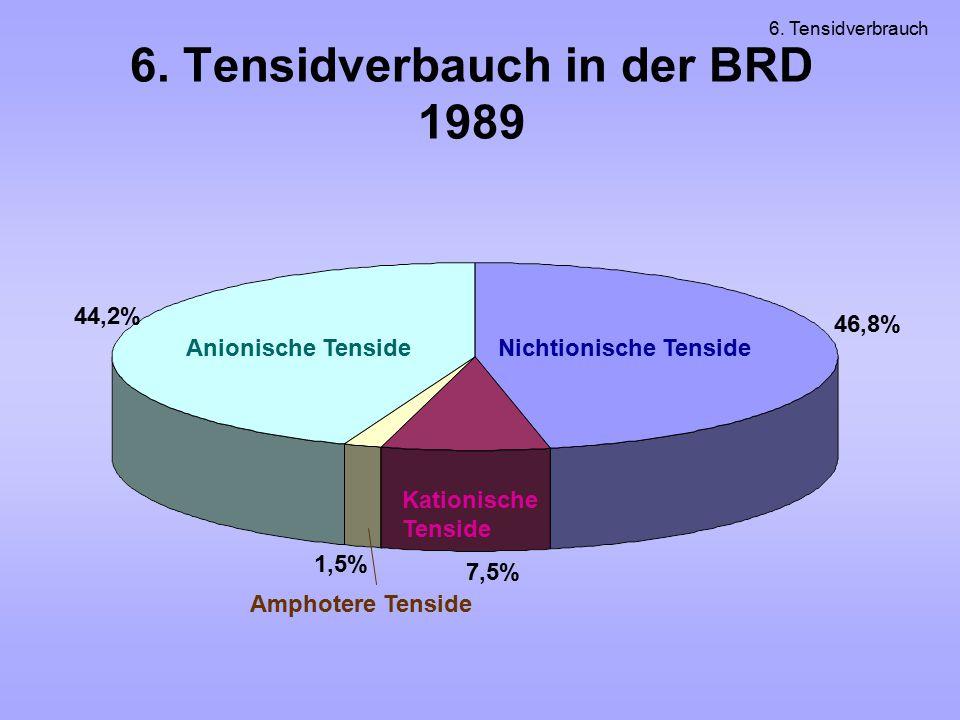 6. Tensidverbauch in der BRD 1989