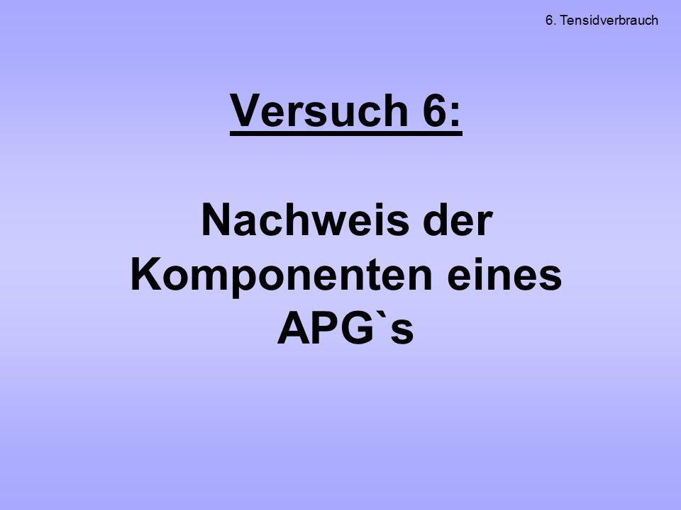Versuch 6: Nachweis der Komponenten eines APG`s