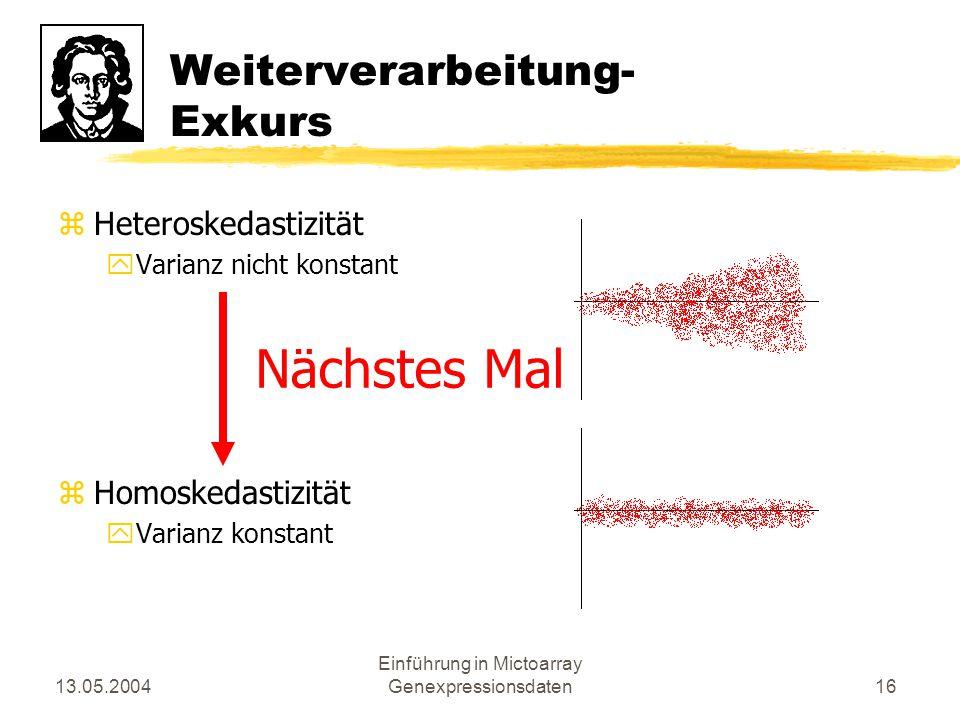 Weiterverarbeitung- Exkurs