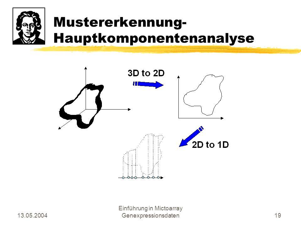 Mustererkennung- Hauptkomponentenanalyse