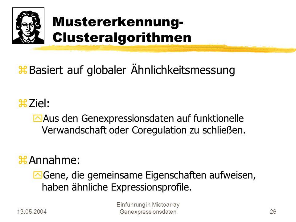 Mustererkennung- Clusteralgorithmen
