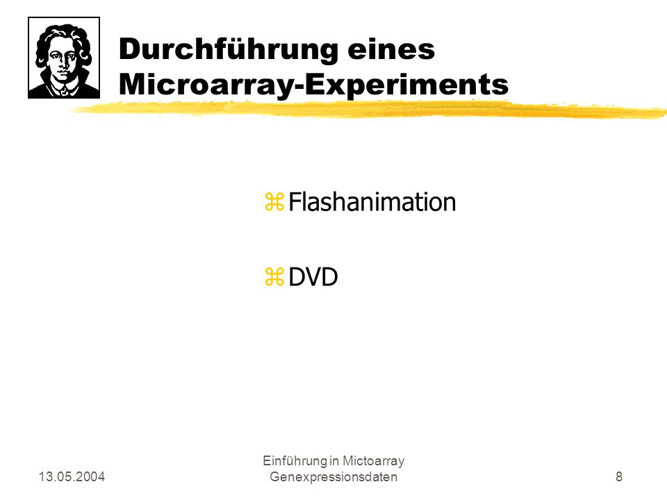 Durchführung eines Microarray-Experiments