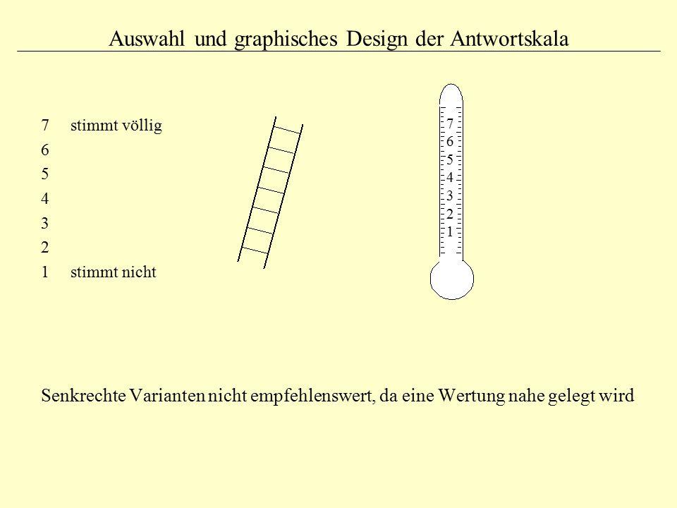 Auswahl und graphisches Design der Antwortskala