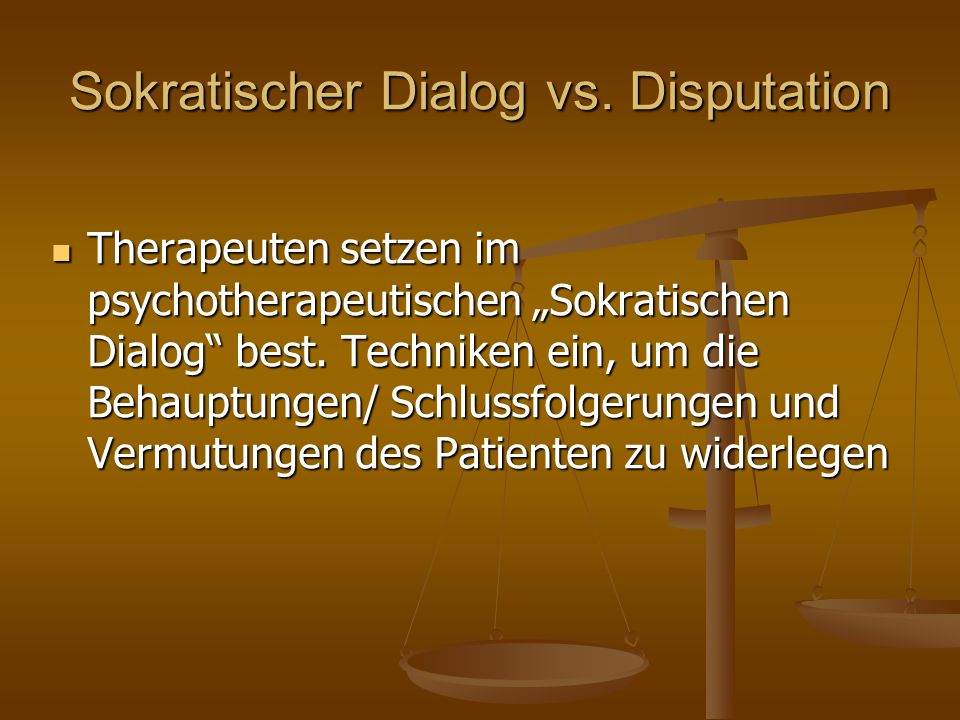 Sokratischer Dialog vs. Disputation