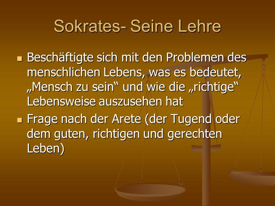 Sokrates- Seine Lehre