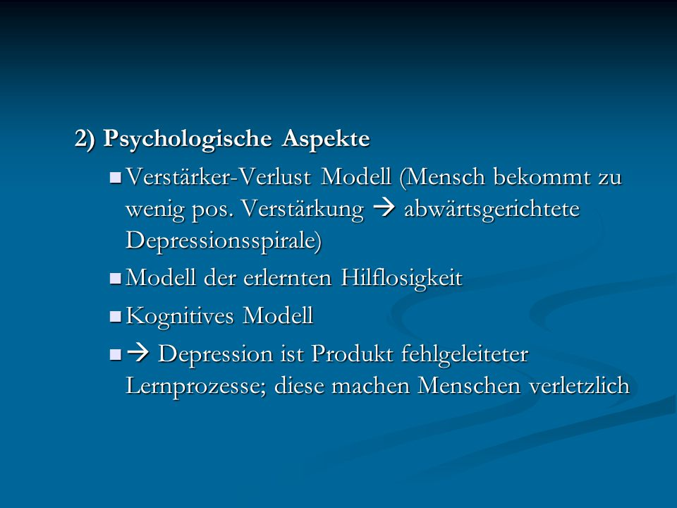 2) Psychologische Aspekte