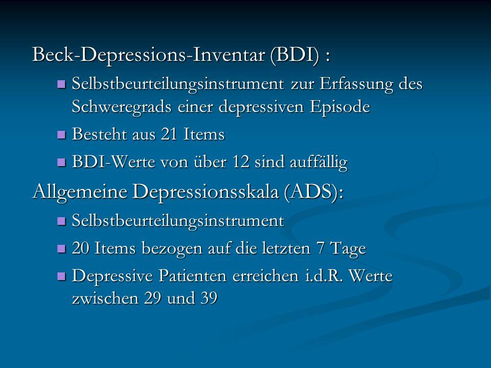 Beck-Depressions-Inventar (BDI) :