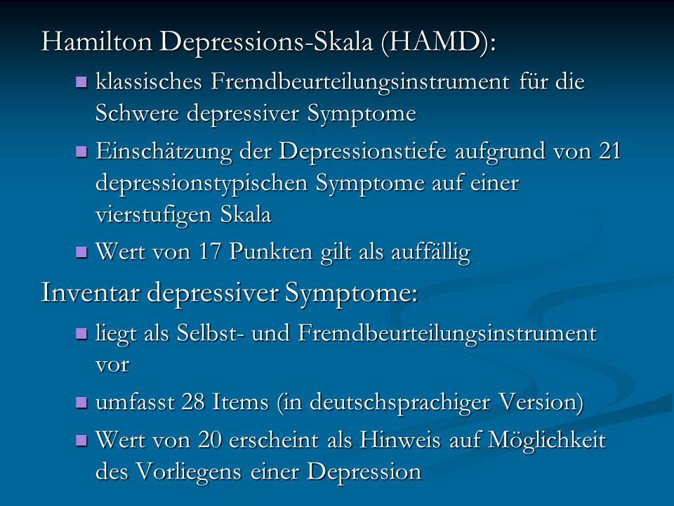 Hamilton Depressions-Skala (HAMD):