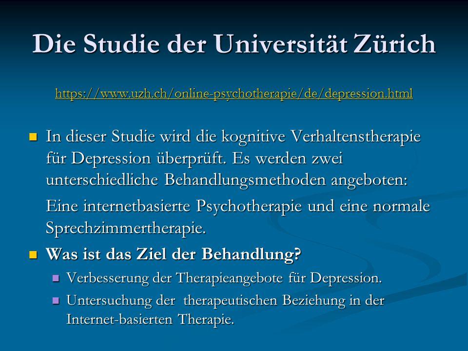 Die Studie der Universität Zürich
