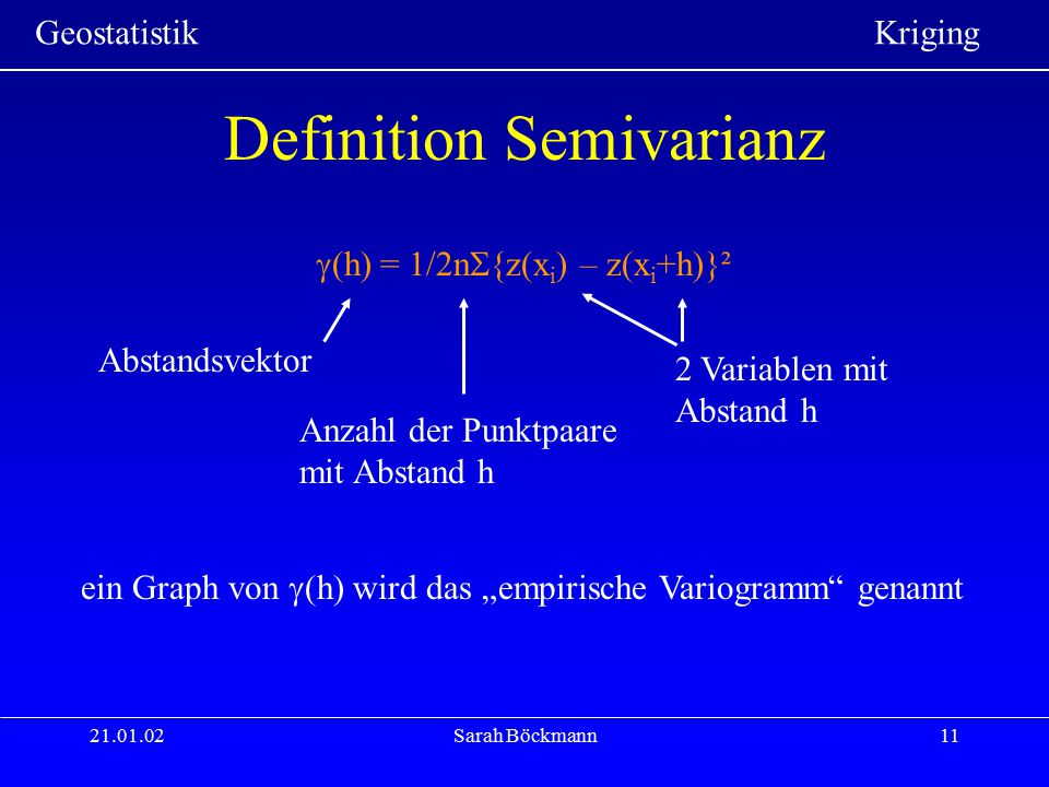 Definition Semivarianz