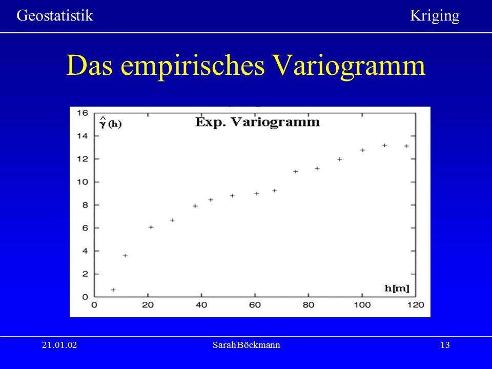 Das empirisches Variogramm