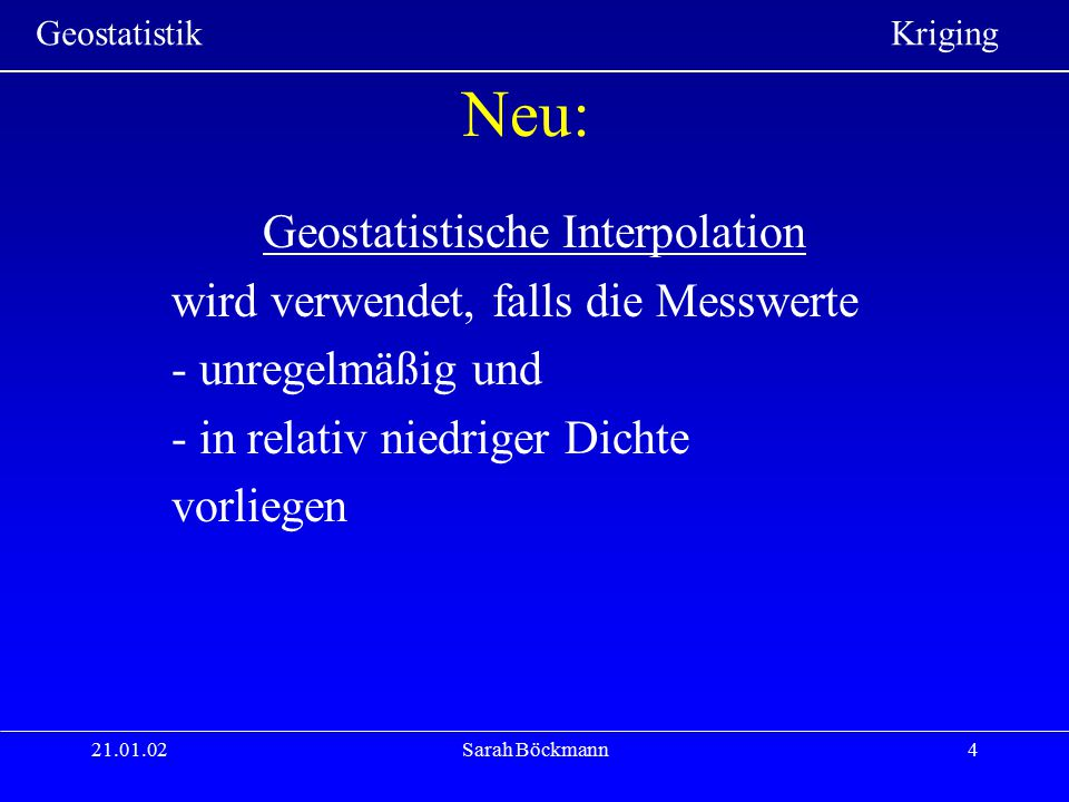 Geostatistische Interpolation