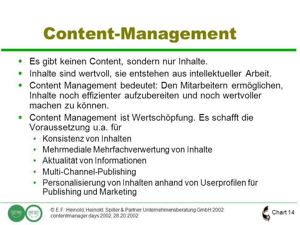 Content-Management Es gibt keinen Content, sondern nur Inhalte.