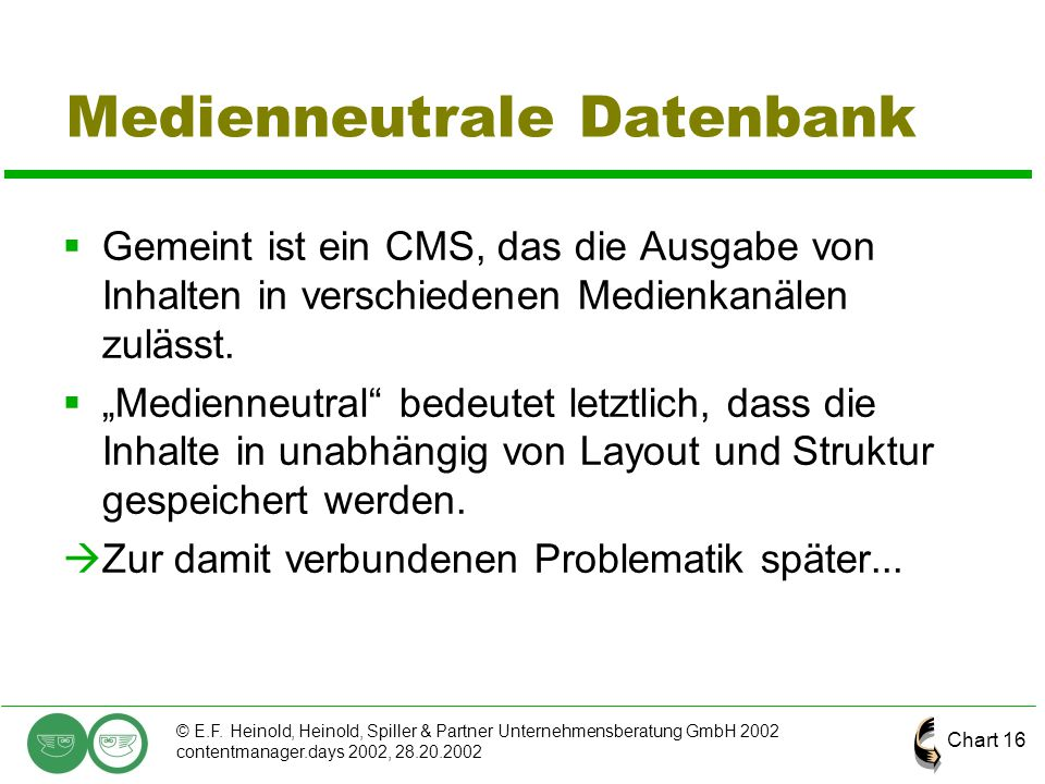 Medienneutrale Datenbank