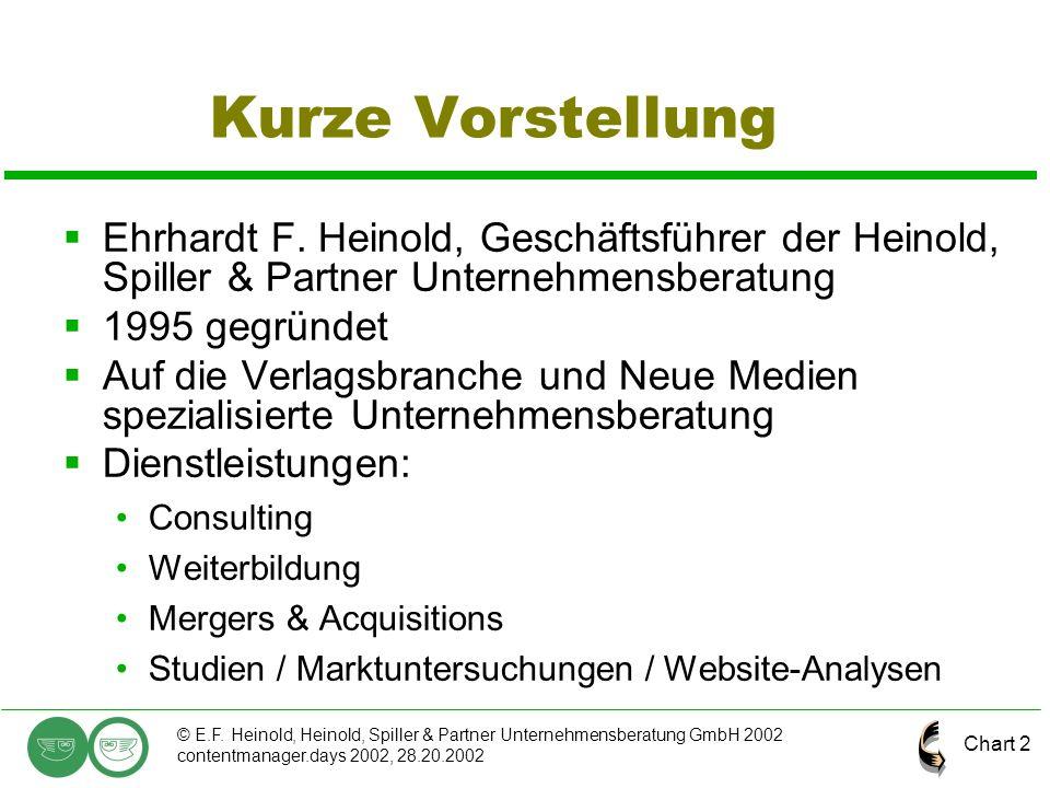 Kurze Vorstellung Ehrhardt F. Heinold, Geschäftsführer der Heinold, Spiller & Partner Unternehmensberatung.