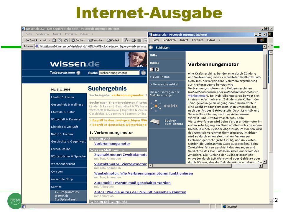 Internet-Ausgabe