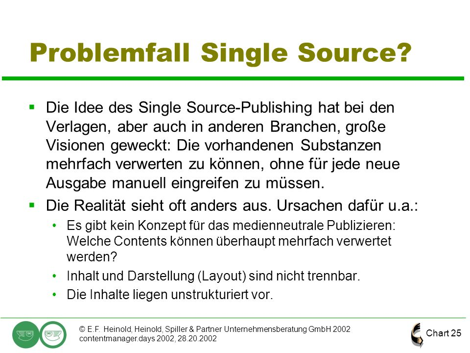 Problemfall Single Source