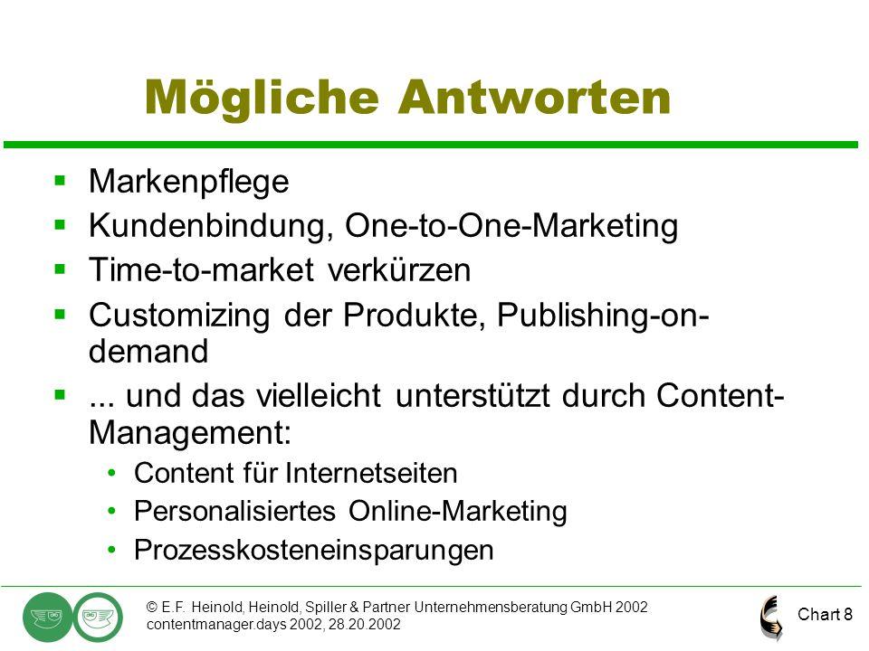Mögliche Antworten Markenpflege Kundenbindung, One-to-One-Marketing