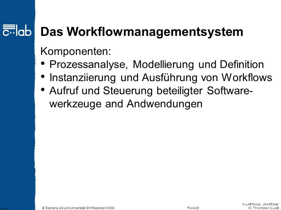 Das Workflowmanagementsystem