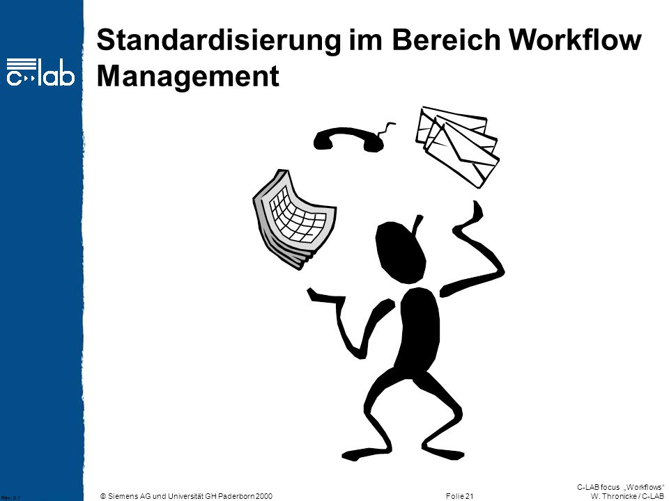 Standardisierung im Bereich Workflow Management