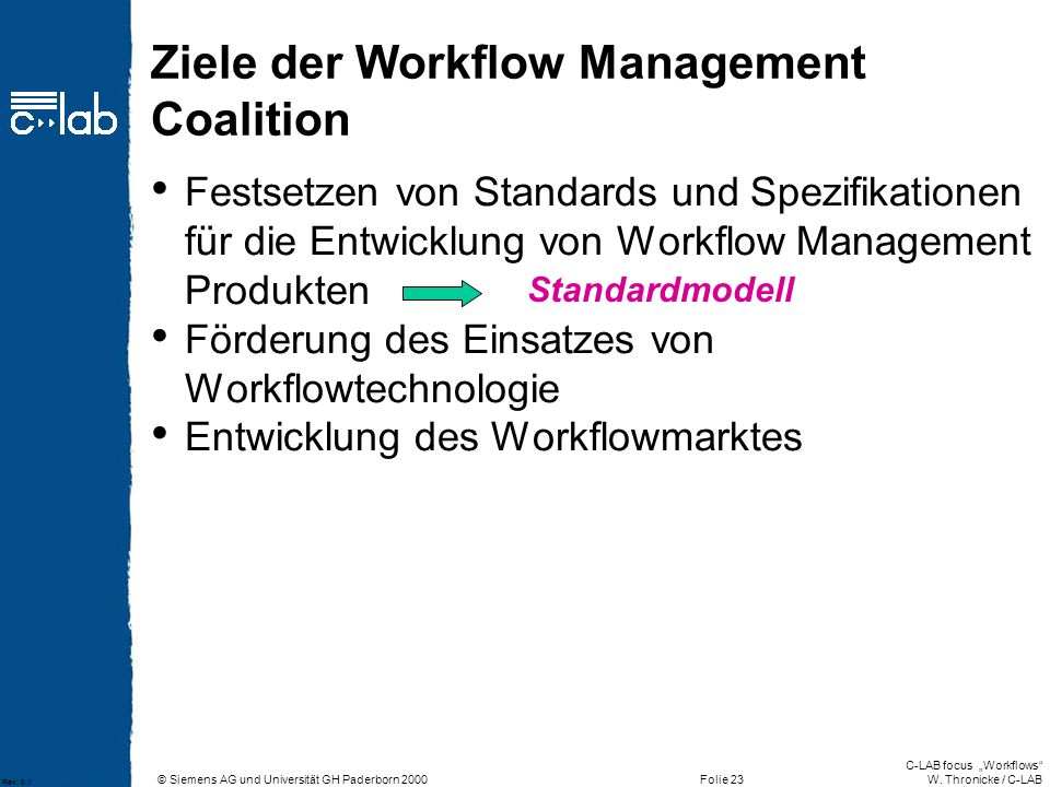 Ziele der Workflow Management Coalition