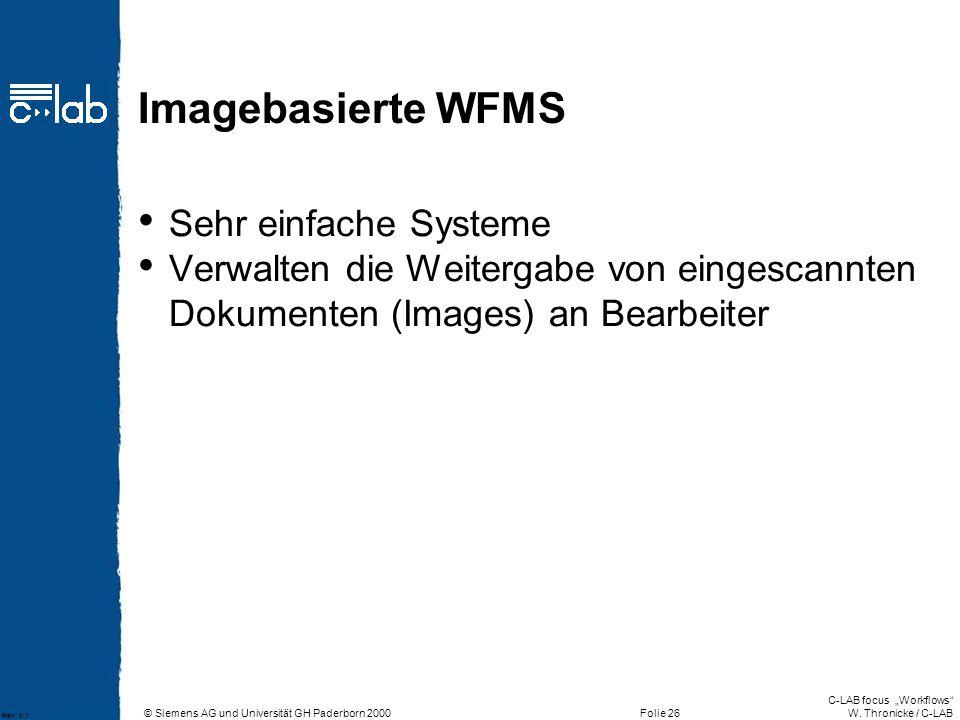 Imagebasierte WFMS Sehr einfache Systeme