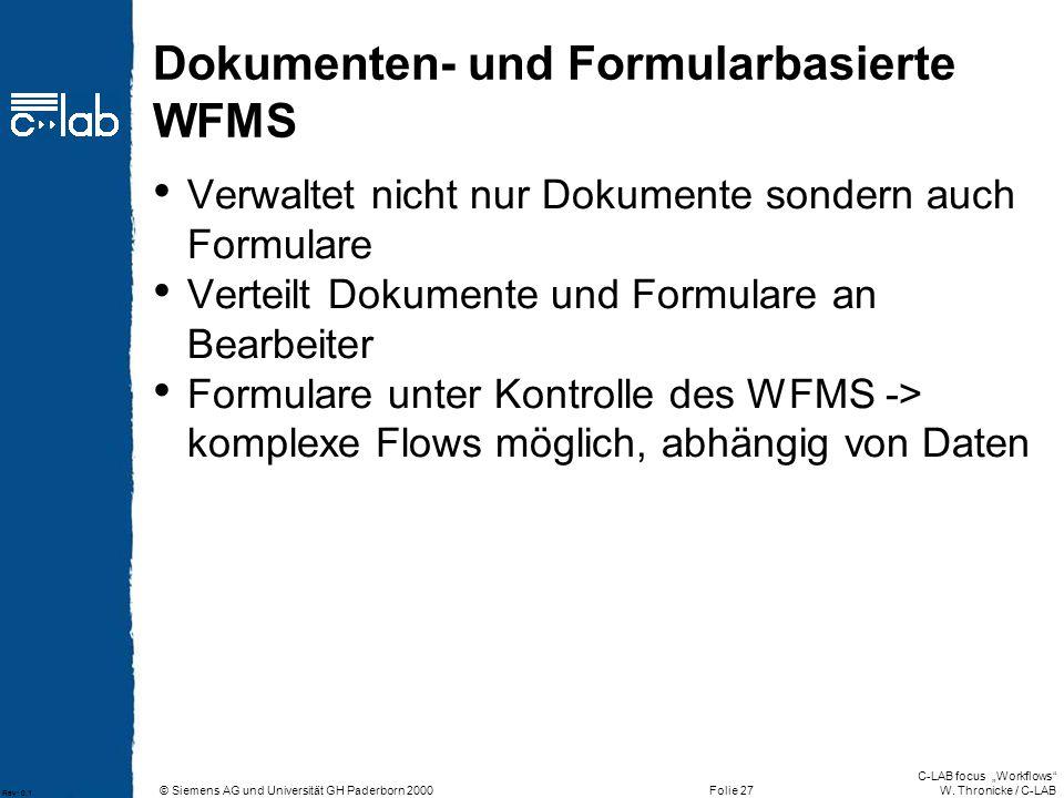 Dokumenten- und Formularbasierte WFMS