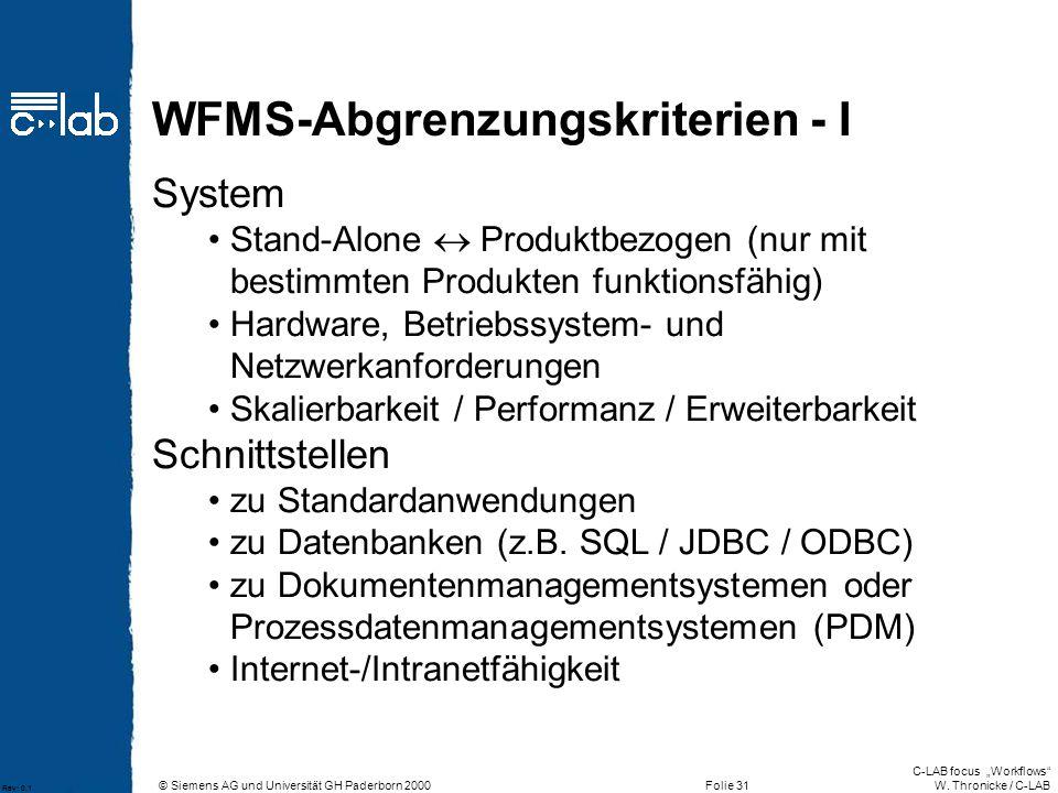 WFMS-Abgrenzungskriterien - I