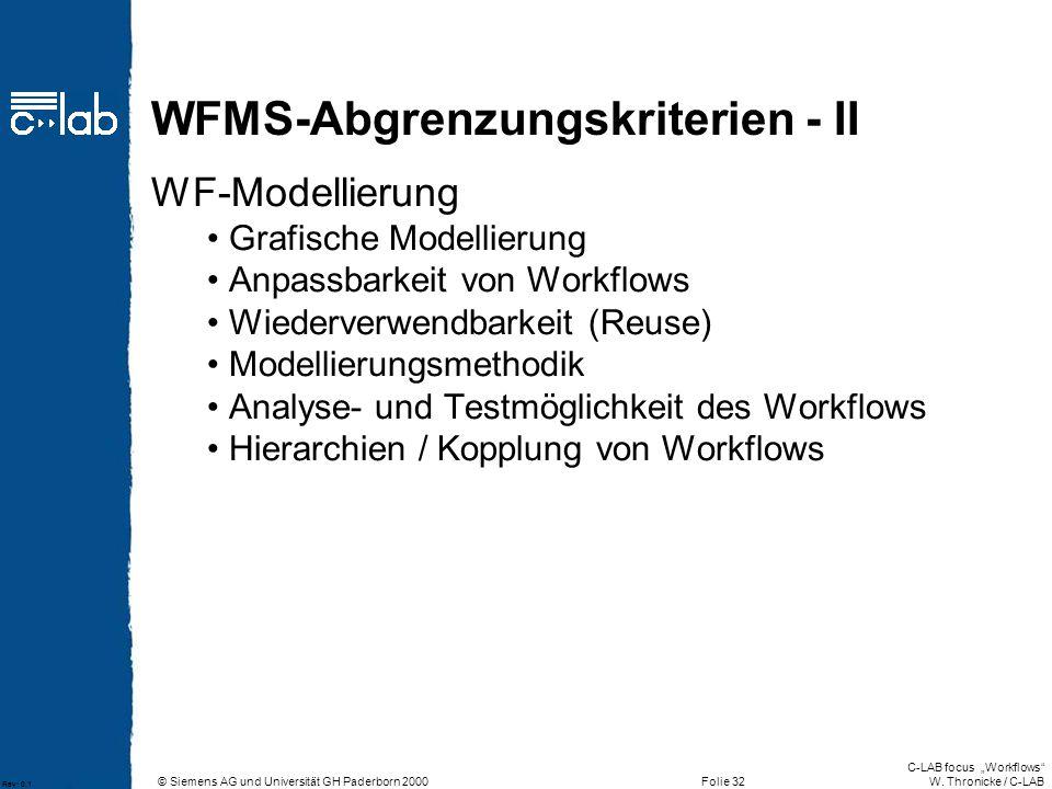 WFMS-Abgrenzungskriterien - II
