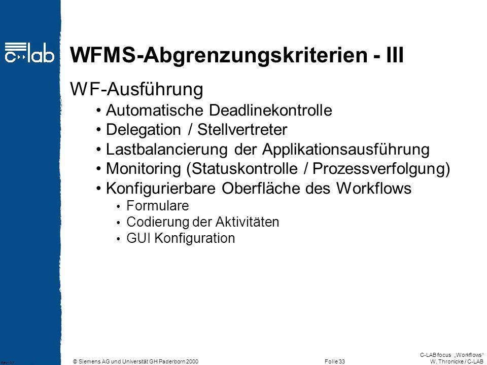 WFMS-Abgrenzungskriterien - III