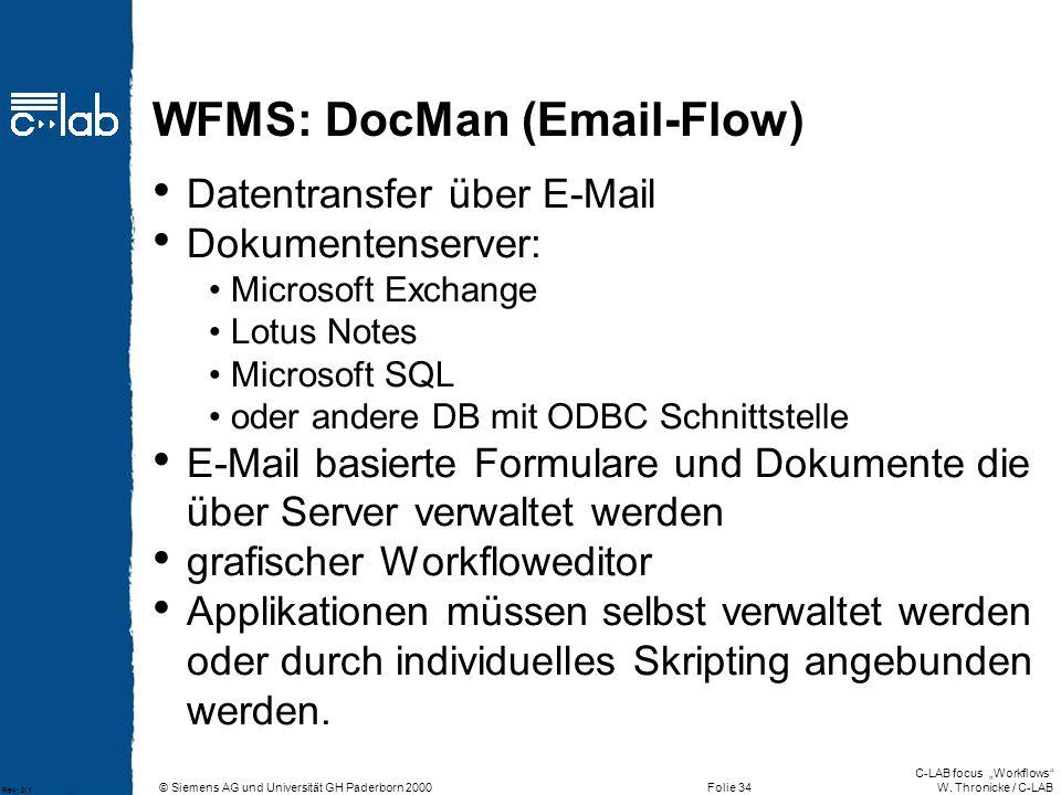 WFMS: DocMan (Email-Flow)