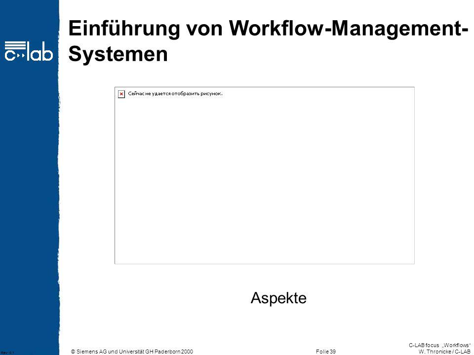 Einführung von Workflow-Management-Systemen