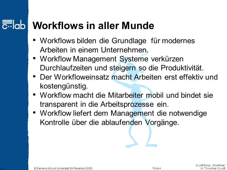 Workflows in aller Munde