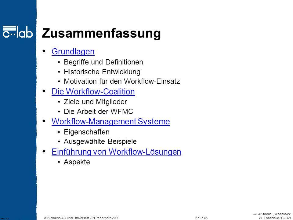 Zusammenfassung Grundlagen Die Workflow-Coalition