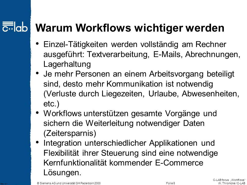 Warum Workflows wichtiger werden