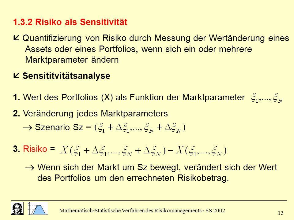1.3.2 Risiko als Sensitivität