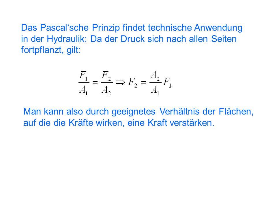 Das Pascal'sche Prinzip findet technische Anwendung
