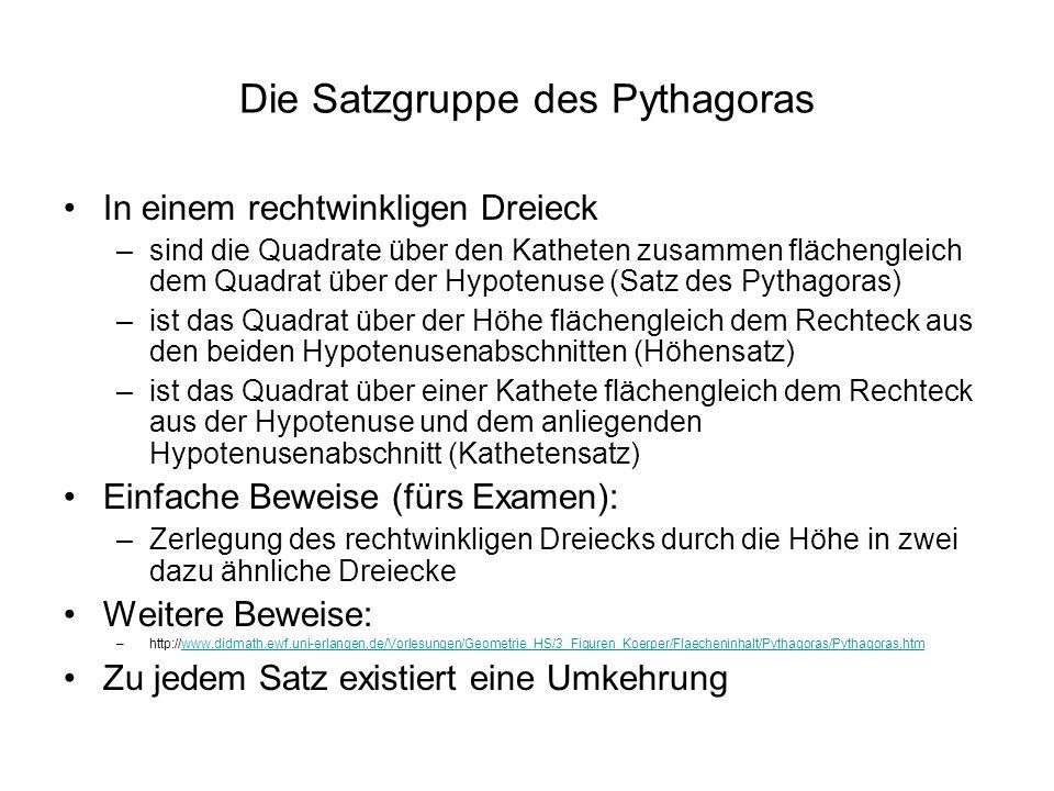Die Satzgruppe des Pythagoras