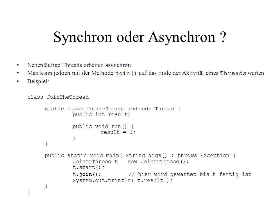 Synchron oder Asynchron