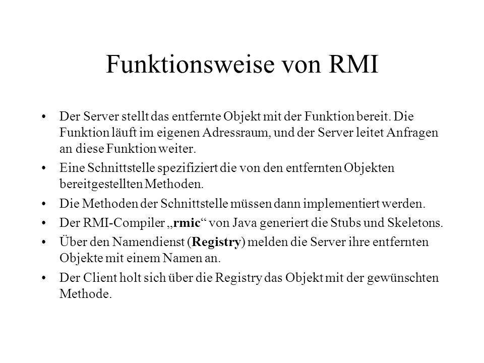 Funktionsweise von RMI