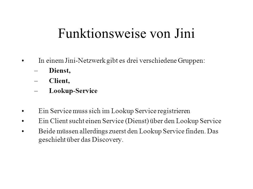 Funktionsweise von Jini