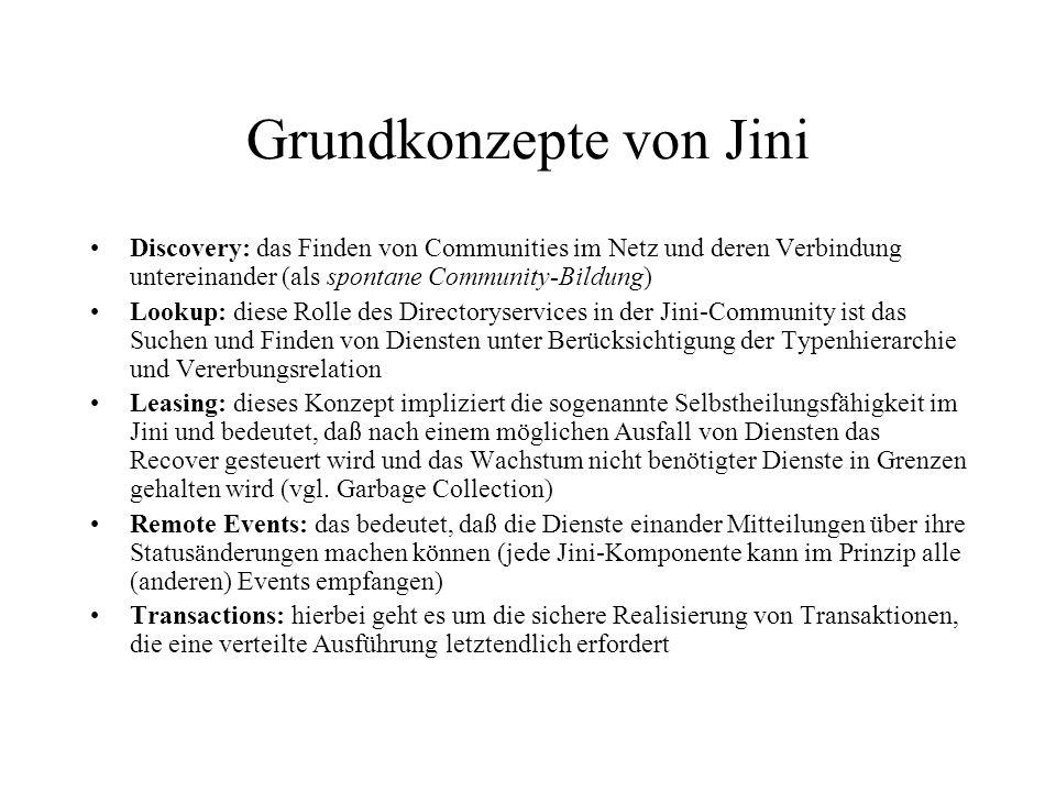 Grundkonzepte von Jini