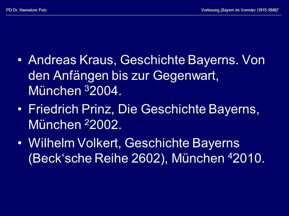 Friedrich Prinz, Die Geschichte Bayerns, München 22002.
